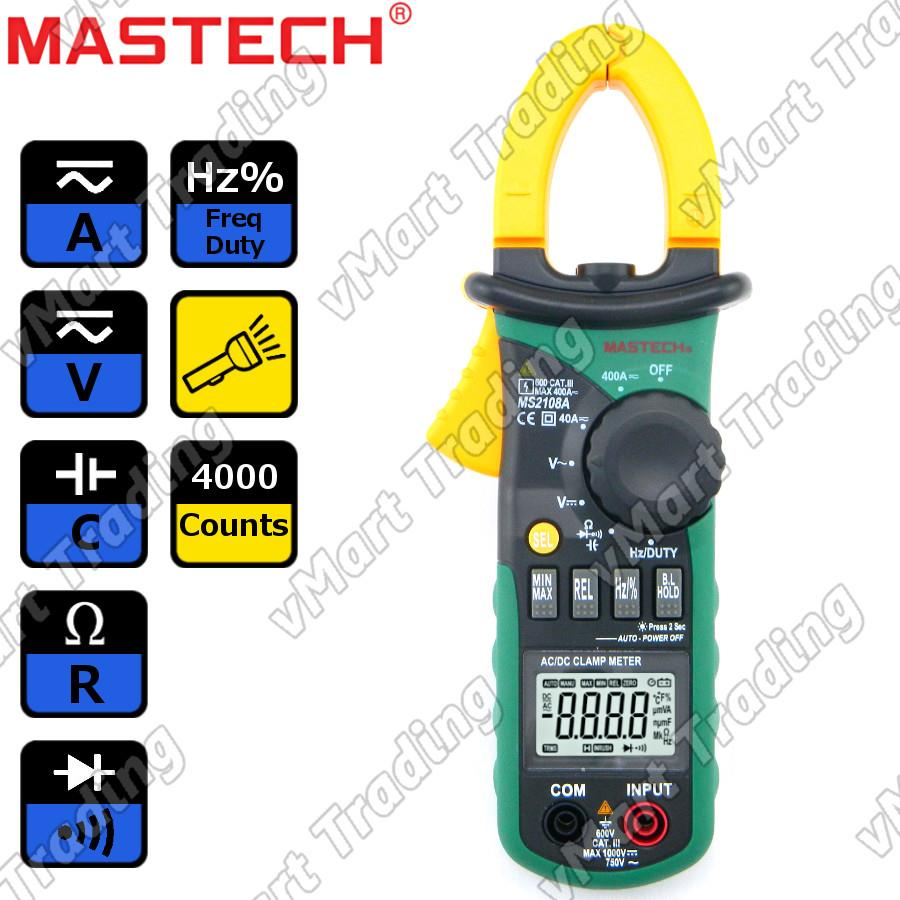 Mastech MS2108A Digital AC/DC Clamp Multimeter