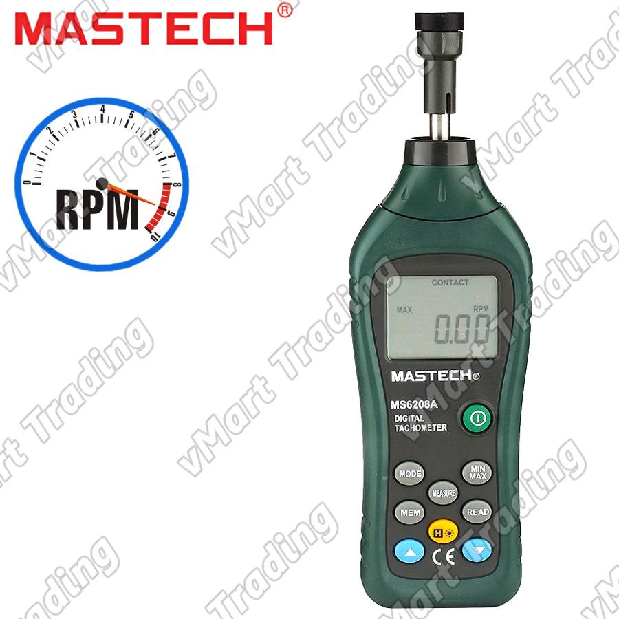 MASTECH MS6208A Contact Type Digital Tachometer