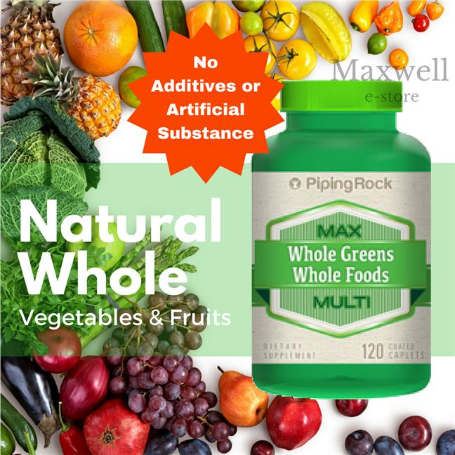 Max Whole Greens/Whole Foods Multi without Iron 120 Capsules (Vitamin)
