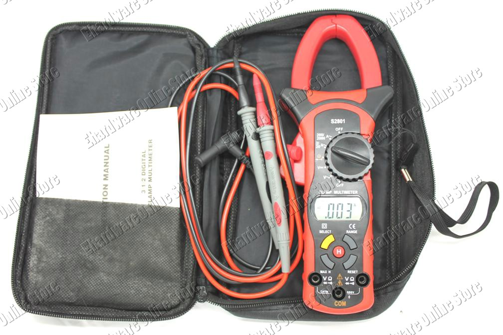 Max Protection High Amp Digital Clamp Multimeter 0.1A-2000A (S2801)