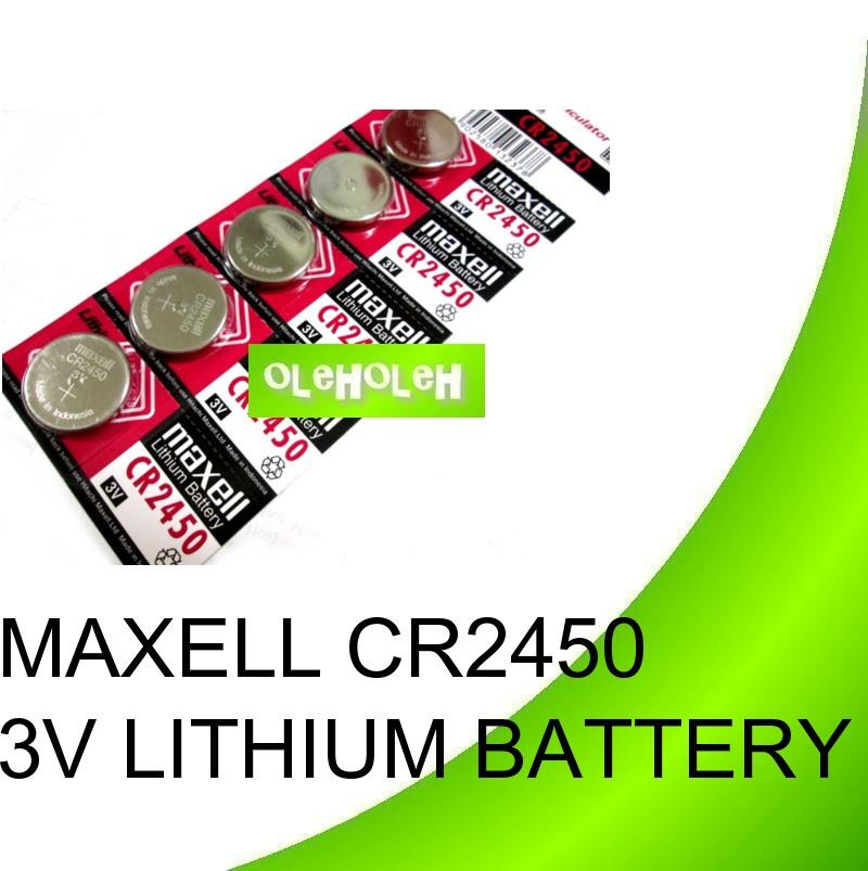 Maxell CR2450 3V Coin Cell Lithium Battery