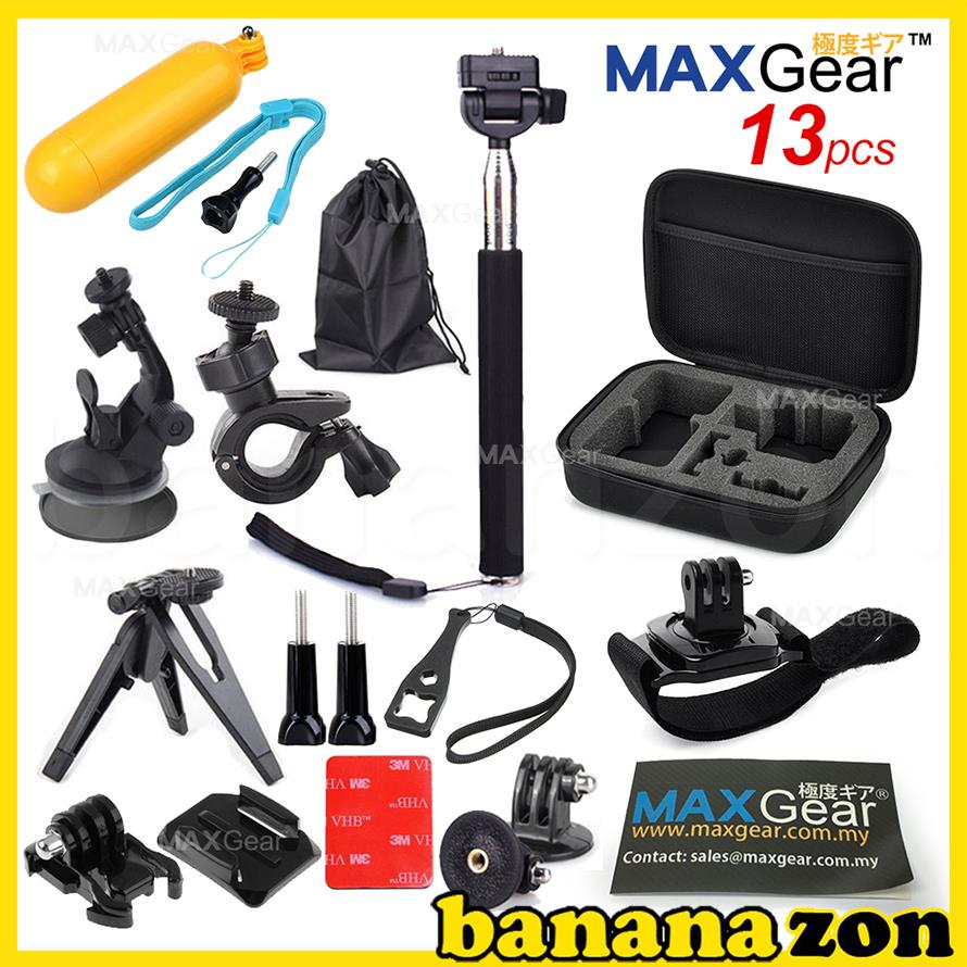 MAXGear 13-in-1 Bundle Set Action Camera Accessories GoPro XiaoMi SJ