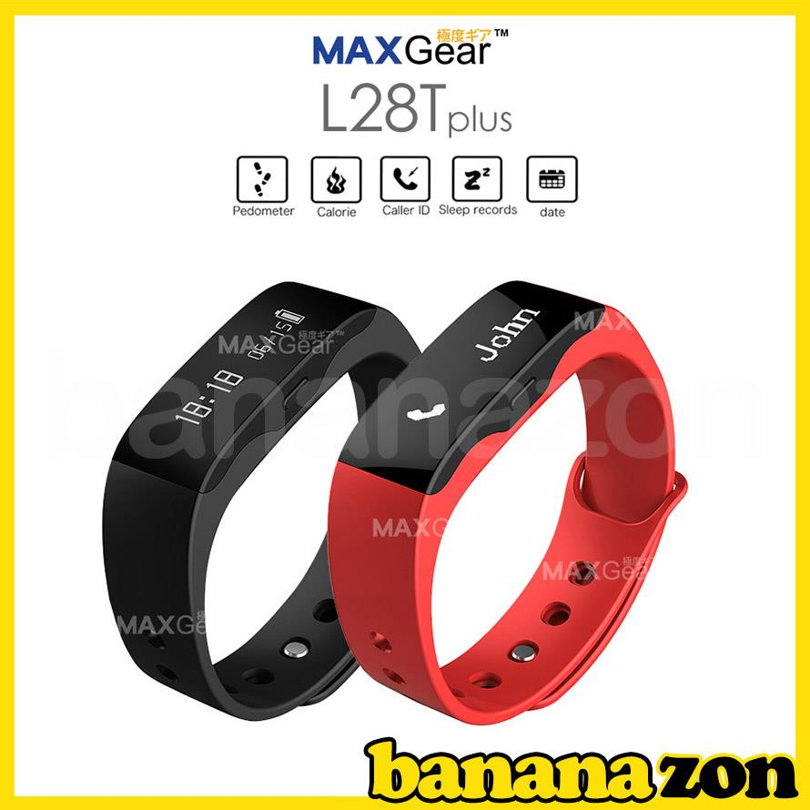 MAXGear L28T Plus Waterproof Bluetooth Smart Watch Wristband Tracker