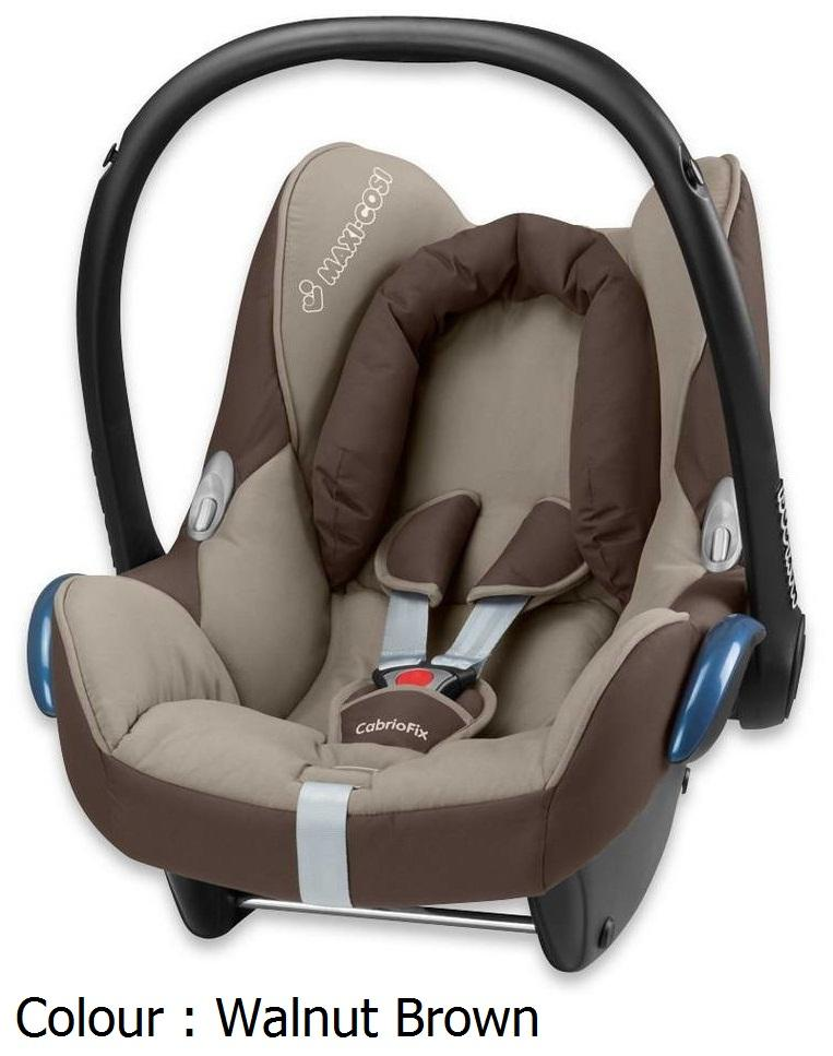 maxi cosi cabriofix infant seat walnut brown 2012 last unit selangor end time 2 22 2013. Black Bedroom Furniture Sets. Home Design Ideas