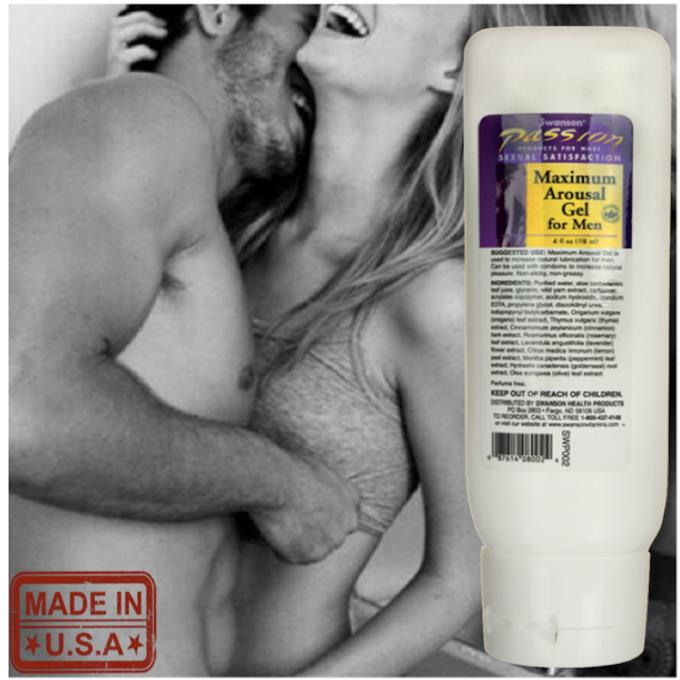 Maximum Arousal Gel for Men, Stay Hard, (Tongkat Ali, L-Arginine)