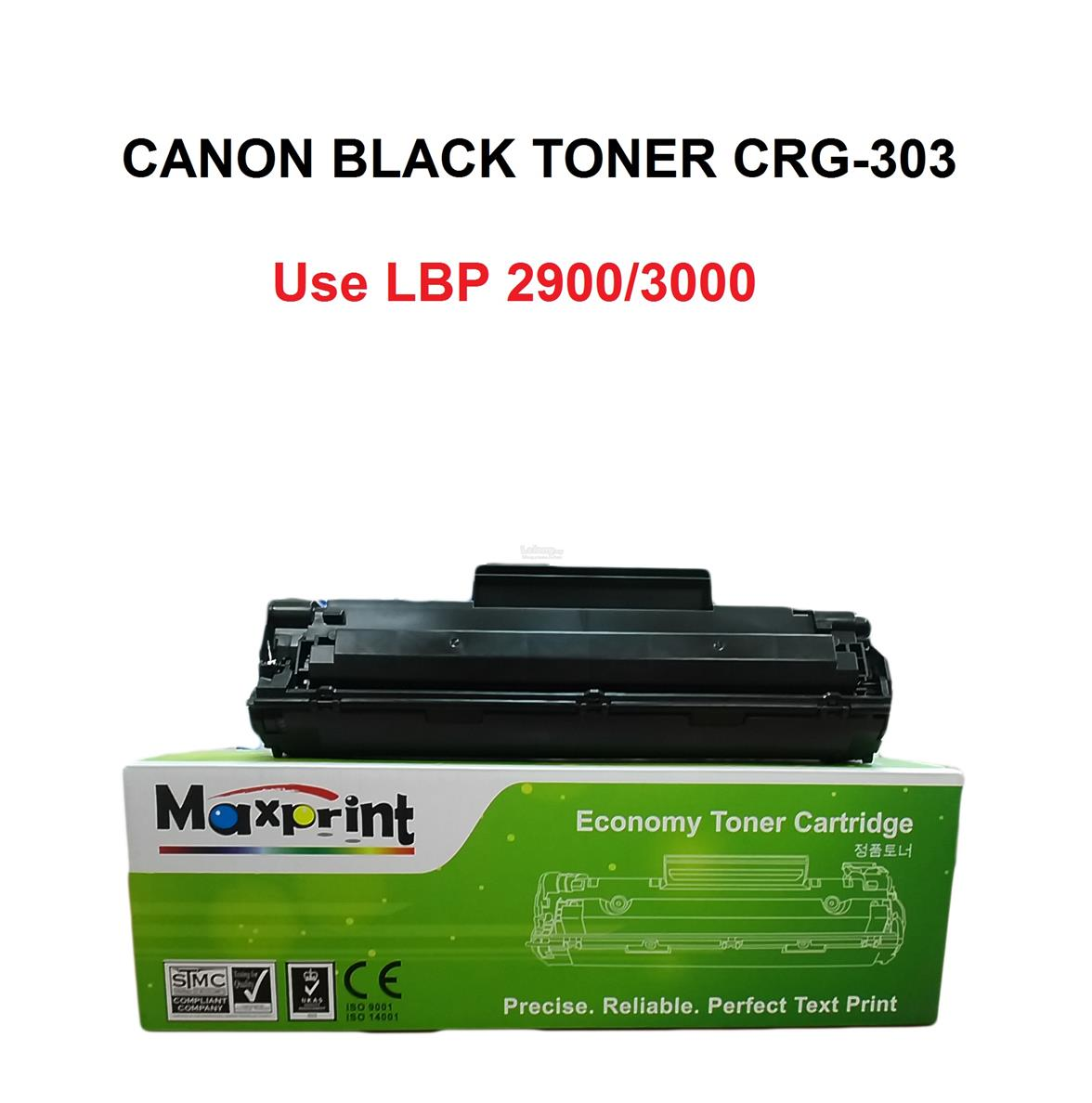MAXPRINT CANON CRG-303 ECONOMY TONER CARTRIDGE (BLACK)