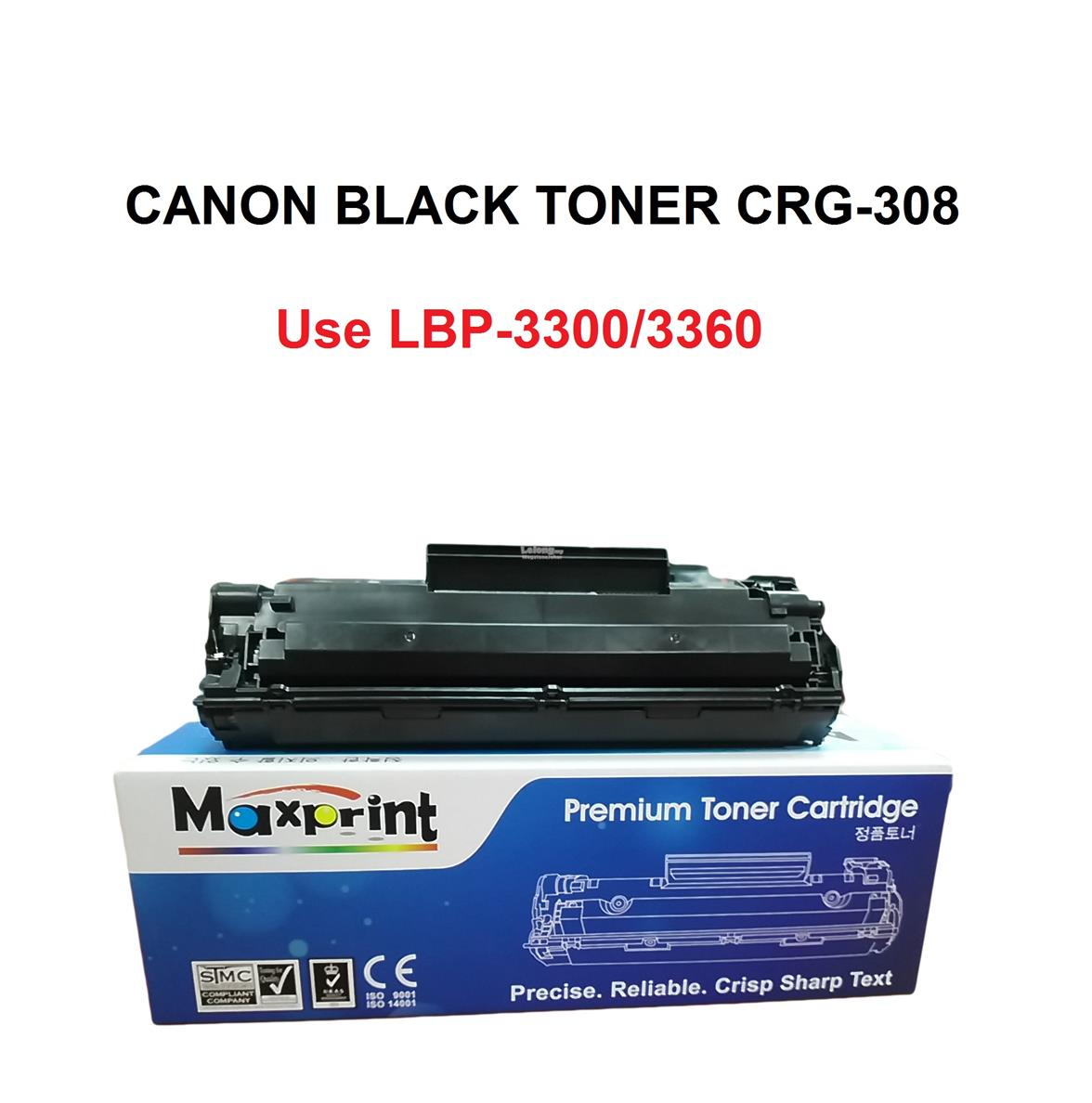 MAXPRINT CANON CRG-308 PREMIUM TONER CARTRIDGE (BLACK)