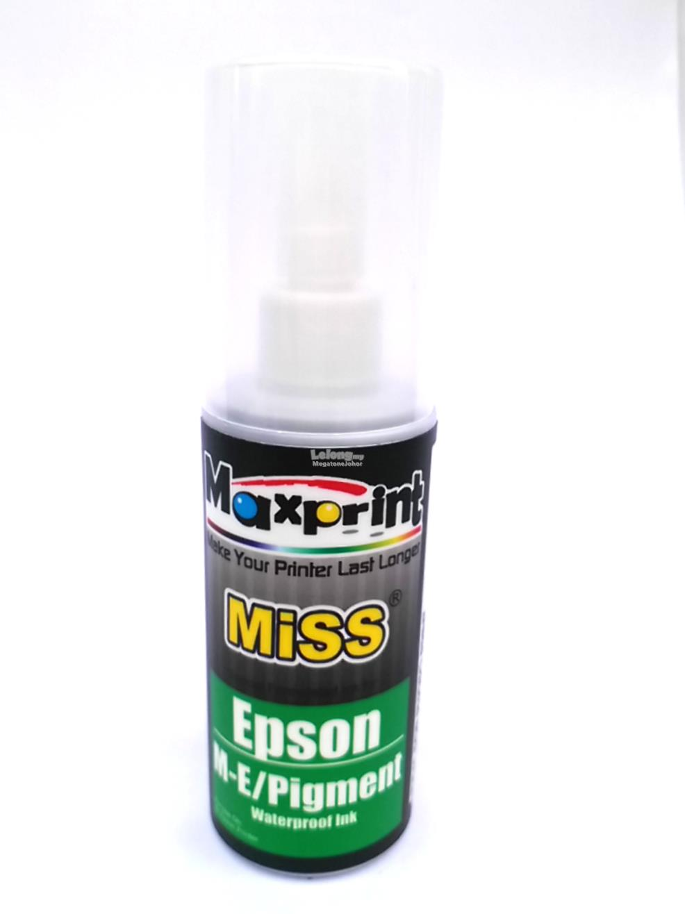 MAXPRINT EPSON-PIGMENT REFILL INK 100ML (BLACK)