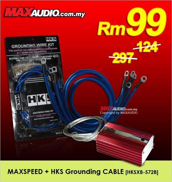 MAXSPEED Voltage Stabilizer + HKS 5-Point Grounding Cable Package
