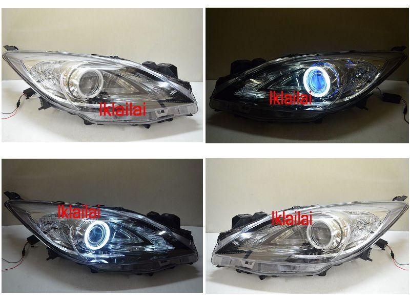 Mazda 3 '10 1.6cc Projector Head Lamp +Colour CCFL Ring + Angel Eye