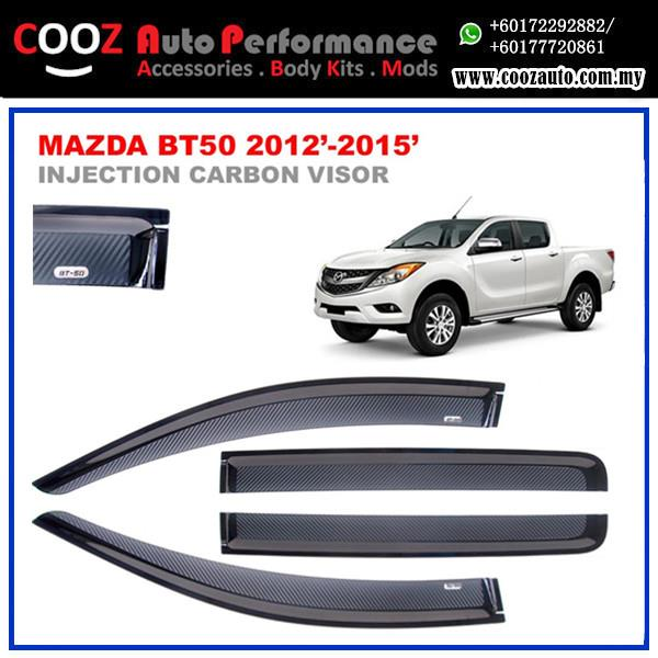 MAZDA BT50 2012-2015 Sun Window Vent Door Visor (Carbon)