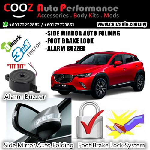Mazda Cx-3 A-Mark Foot Brake Lock +Side Mirror Auto Fold + Buzzer