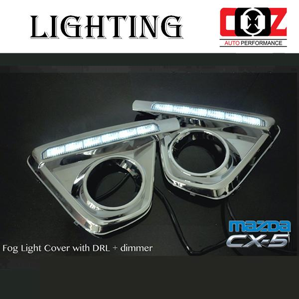 Mazda CX5 Fog Lamp Cover With LED Daylight DRL + Auto On