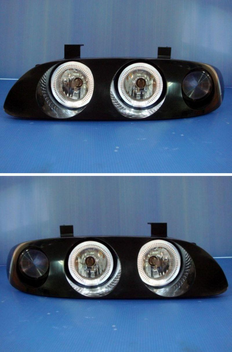 MAZDA MX6 '93-'97 Crystal CCFL Ring Head Lamp Black