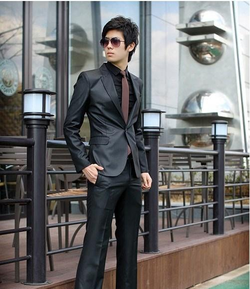 MB14 Korean Style Casual Slim Fit Men Blazer Coat Jacket/Wedding Suit