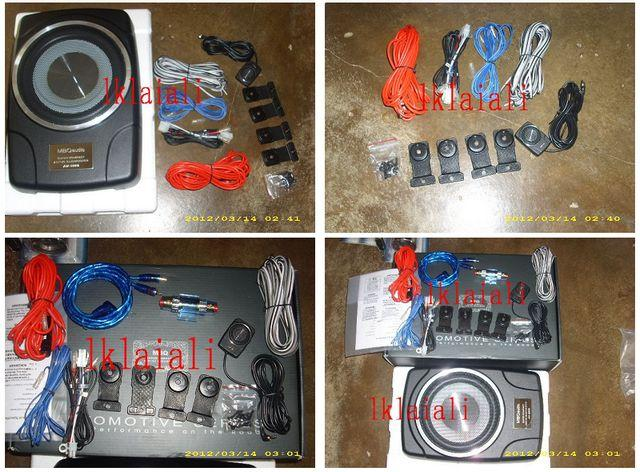 MBQ AUDIO 8' Underseat Active Subwoofer+Audio Fuse+Cable