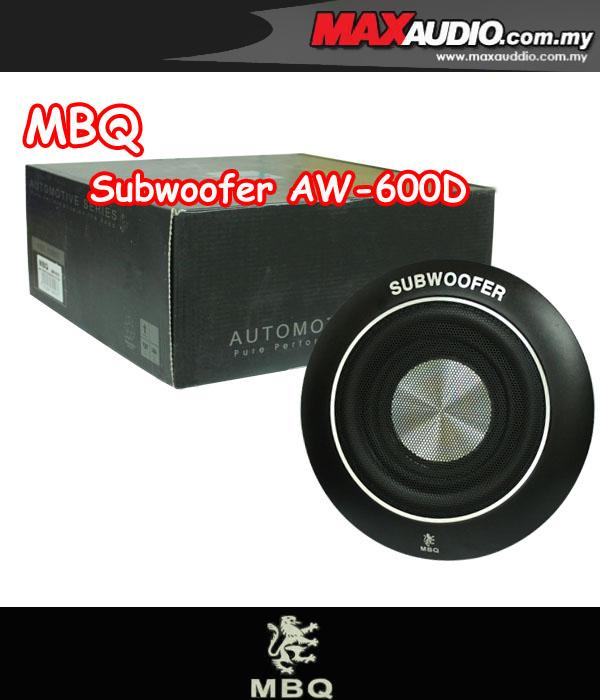 MBQ AW-600D 8' 100W RMS Round Underseat Subwoofer Made in England