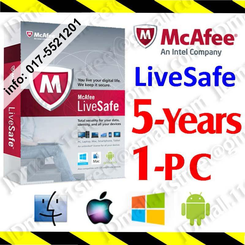 Mcafee pc attach 3 pc 2016 product key card