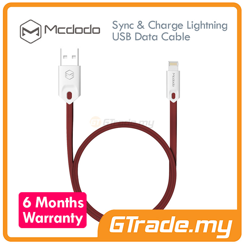 MCDODO USB Lightning Cable 1M RD | Apple iPhone 7 7S Plus