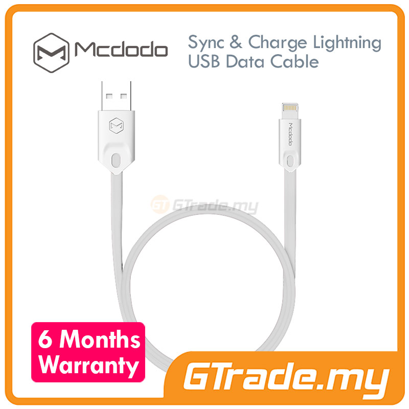 MCDODO USB Lightning Cable 1M W | Apple iPhone 6S 6 Plus SE 5S 5C 5