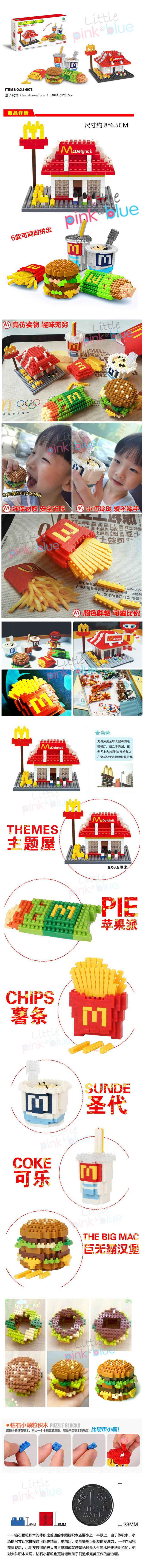 McDonalds Food Icons Nano Block Collection Limited Edition 6 in1