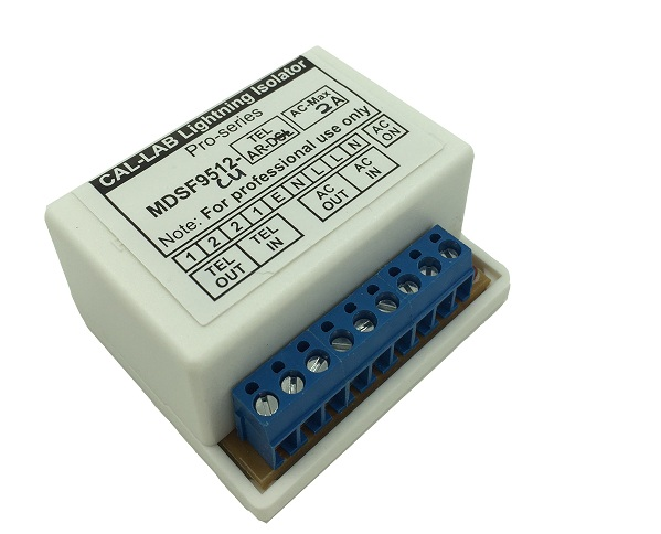 MDSF9512-cu(2A) Lightning Isolator module for Alarm panel; AC & teleph..