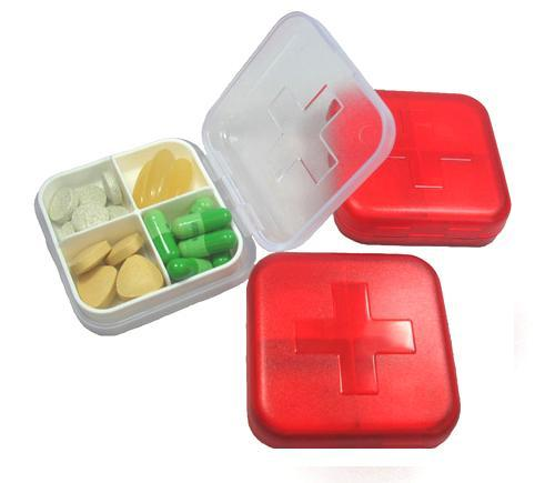 Medicine Organizer Pill Box (4 Compartments)