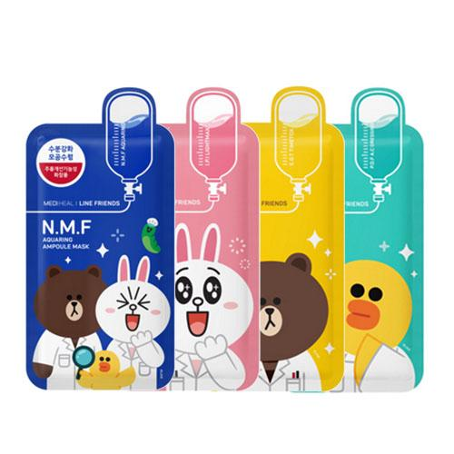 Mediheal Line Friends Ampoule Mask Sheet Pack 4 Type Each 10 pcs