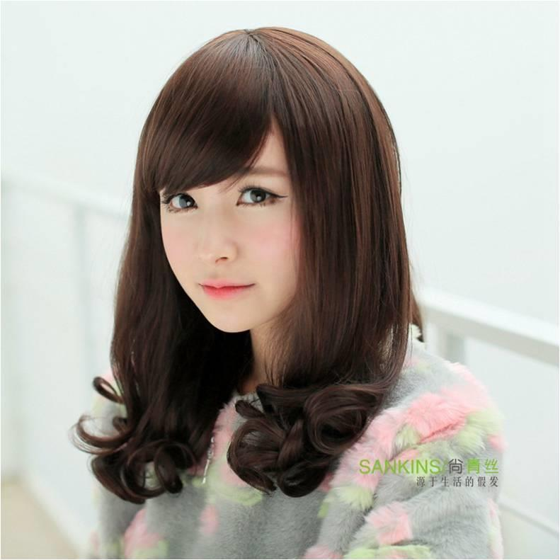 Medium wig 17-rambut palsu ready stock