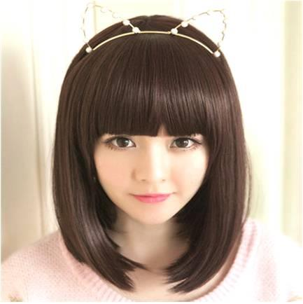 Medium wig CE8/ready stock/rambut palsu