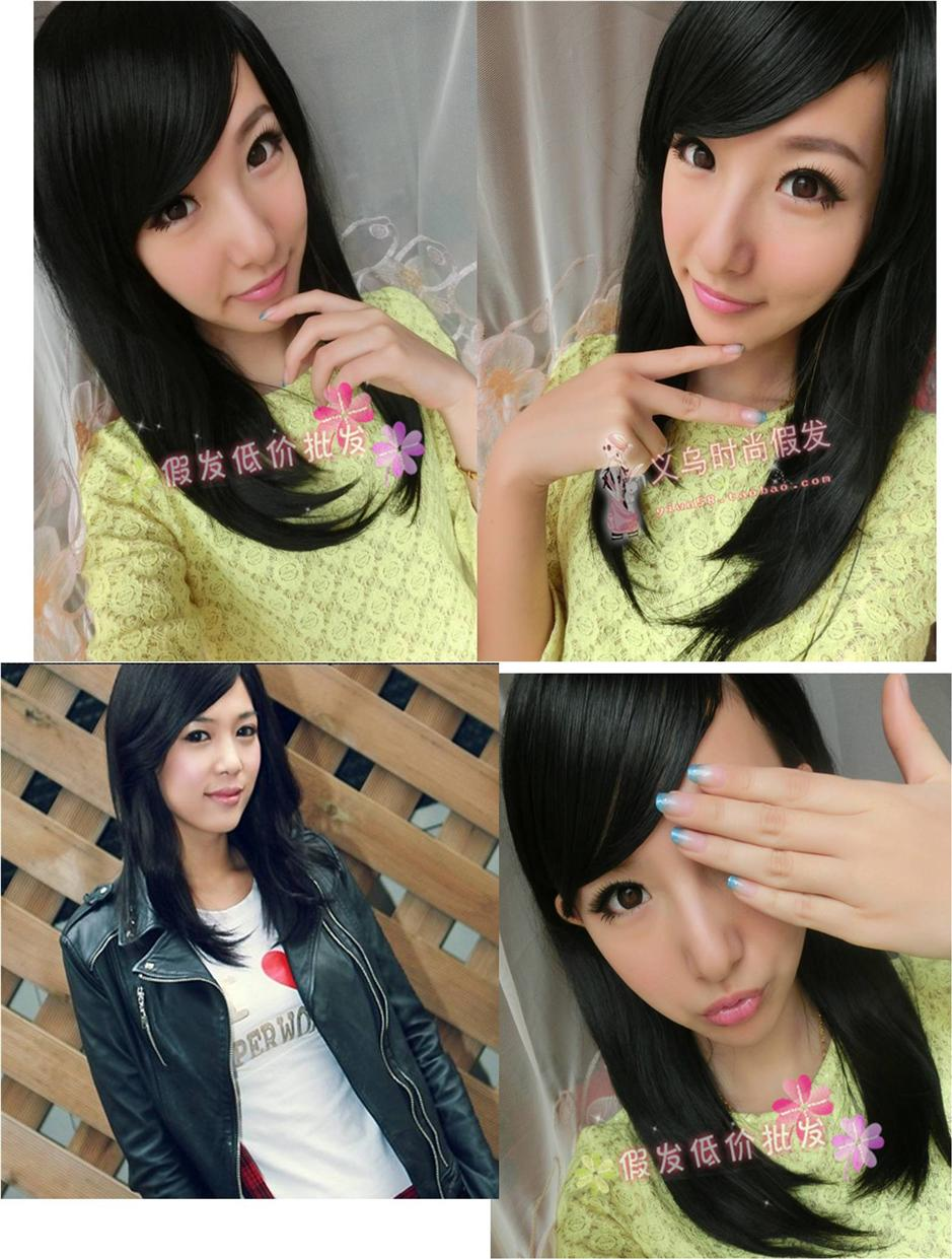 Medium wig*d16 ready stock-rambut palsu