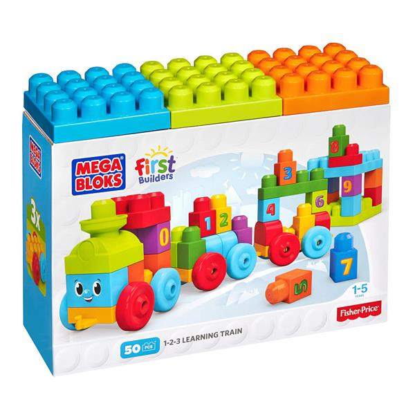 Mega Bloks by Fisher Price First Builders 50pcs 1-2-3 Learning Train