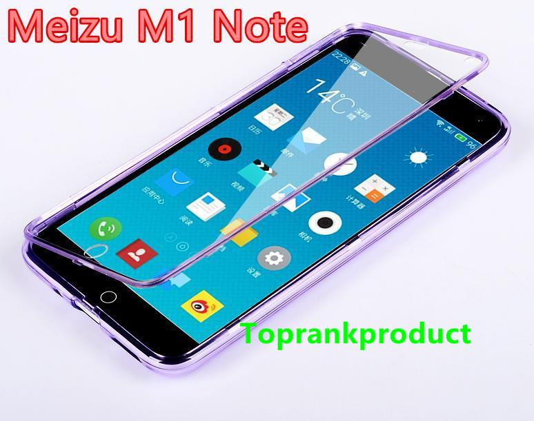 Meizu M1 M2 M3 Note Transparent Flip Armor Case Cover Casing + Gift