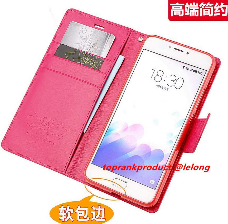 Meizu M3 Note M3S Flip Card Slot Stand Case Cover Casing + Free Gift