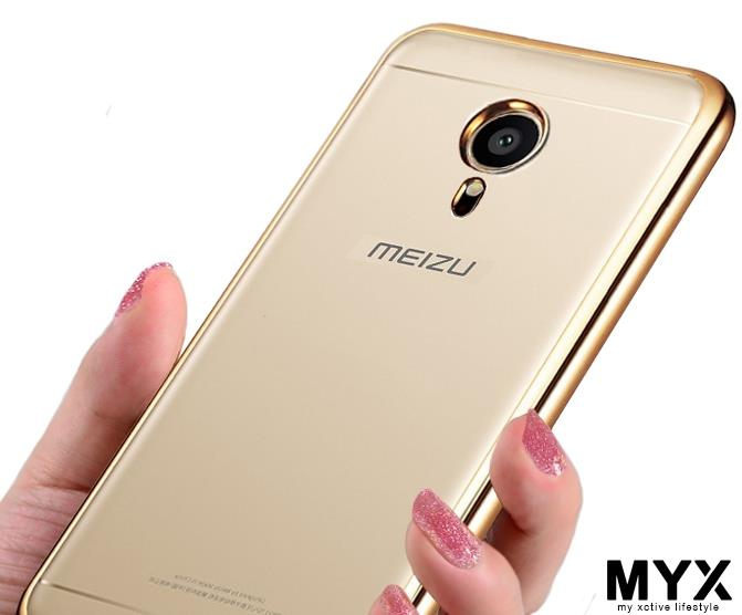 Meizu Pro 5 Chrome Soft Silicone Casing Case Cover *Free SP