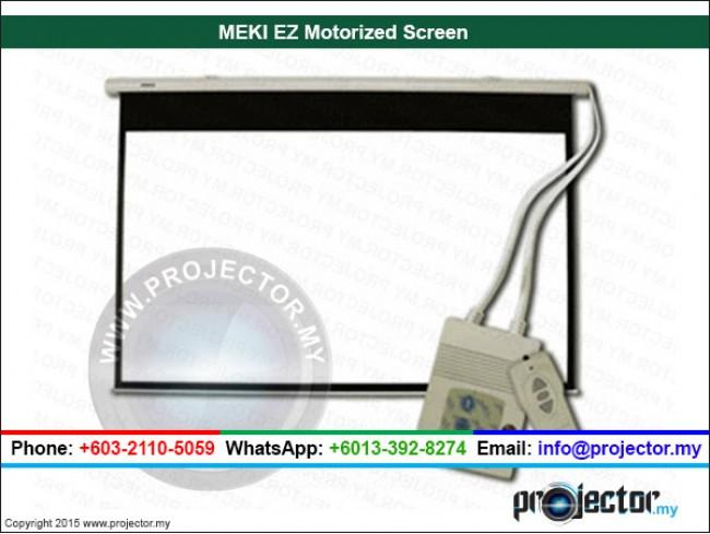 "MEKI EZ MOTORIZED PROJECTION SCREEN 72"" x 96"" (120""D)"
