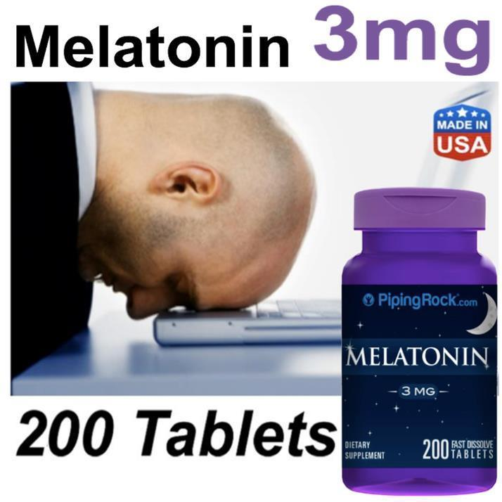 Melatonin 3mg, 200 tablets (pembantu tidur, sleeping pills) 3 mg (USA)