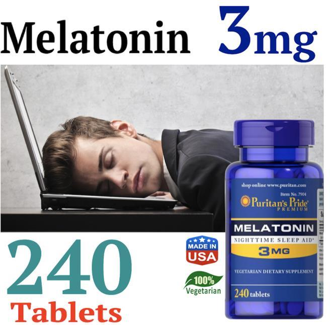 Melatonin 3mg, 240 Tablets (Sleep, Pembantu Tidur) Melatonin 3 mg