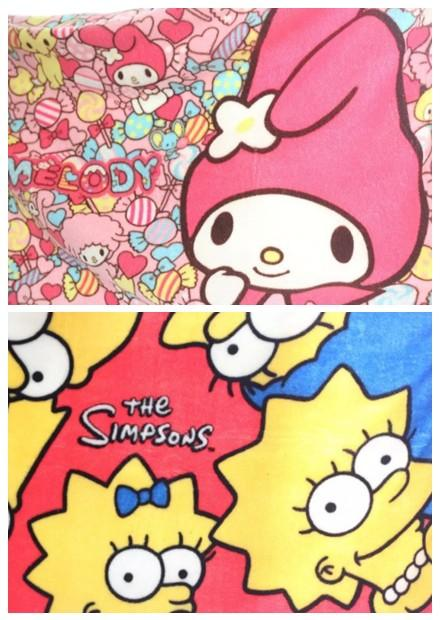 Melody or Simpsons Soft Plush Blanket Ready Stock