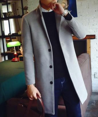 Men Autumn Long Style Coat Long England Cost