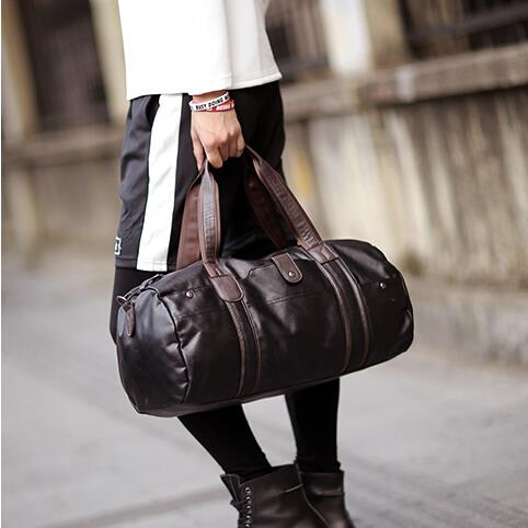 Men fitness new casual cylinder luggage bag