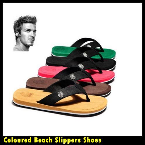 Men Flip Flops Outdoor Popular Bright-coloured Beach Slippers Shoes