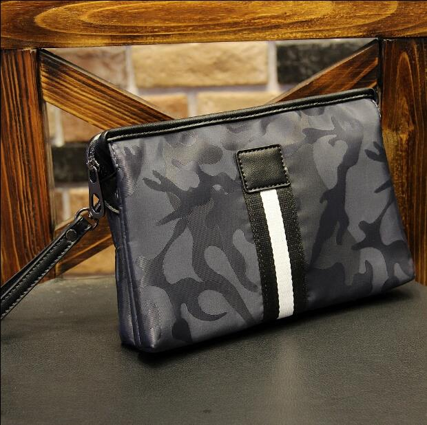 Men high-grade oxford cloth camouflage clutch bag