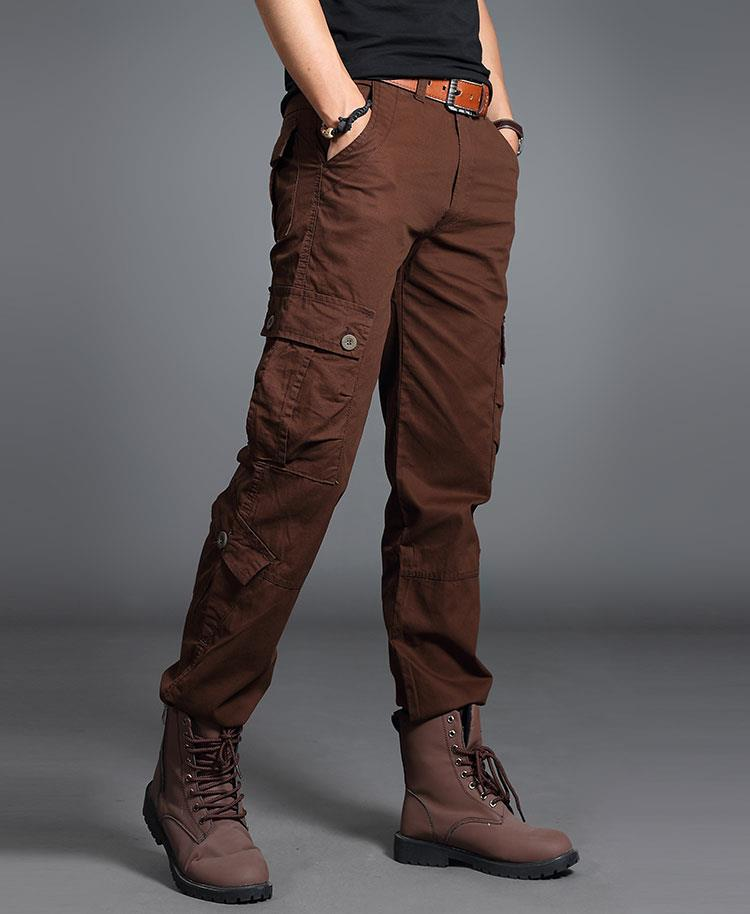 New Men Photographer Hiking Training Outdoor 8-Pockets Army Pants