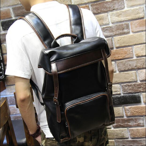 Men PU fashion trend cortex backpack