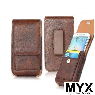 Men's Waist Phone Belt Clip Vertical Wallet Case Casing Cover