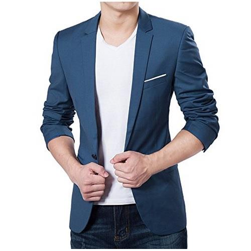 Men Slim Fit Blazer Business Coat Presentation Coat 100% BEST Blazer