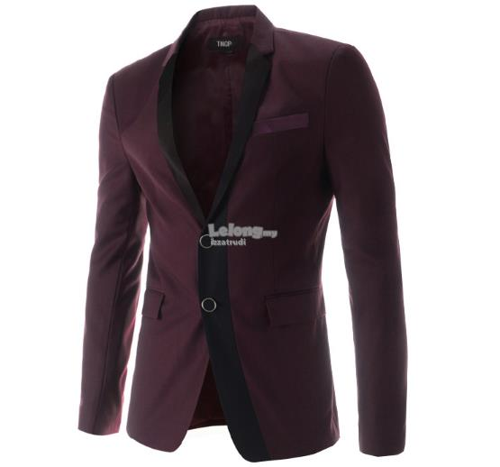 Men Slim Fit Two Button Suit