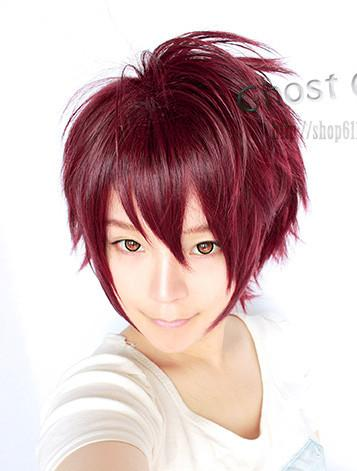men wig cos wine red/ ready stock/ rambut palsu