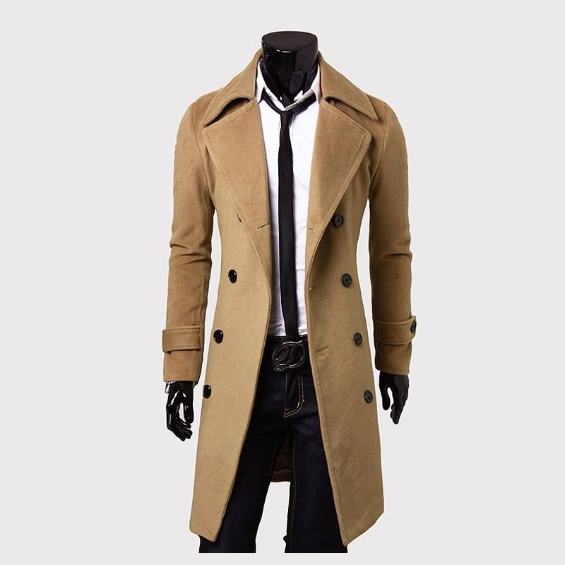Men  Windbreaker Long Coat Men Outerwear